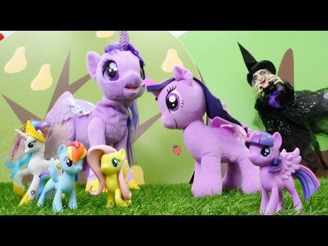 Cadı Twilight Sparkle'a Sihir Yapıyor.My Little Pony Oyunu