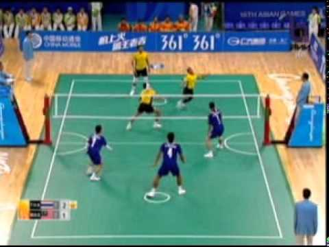 Sepak Takraw(Men's Team A+B) @2010 Asian Games - Thailand vs Malaysia (Gold Medal Match) 3/7