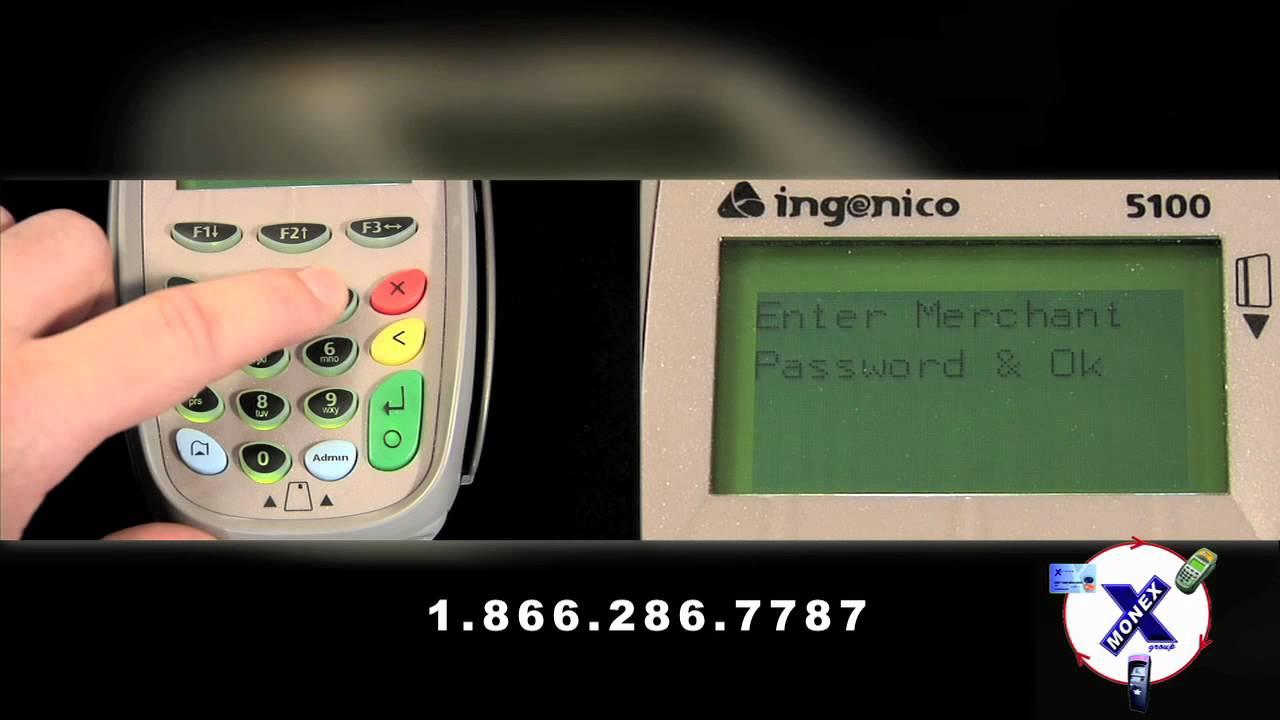 ingenico icm122 how to close batch