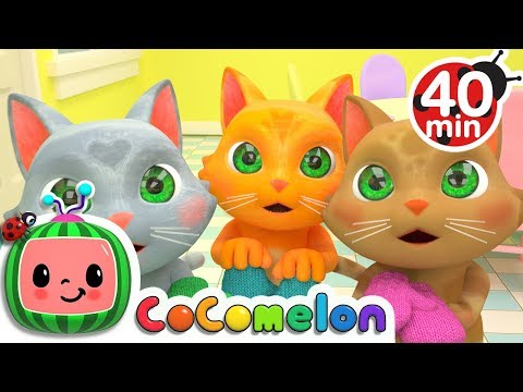Three Little Kittens  + More Nursery Rhymes & Kids Songs  ABCkidTV