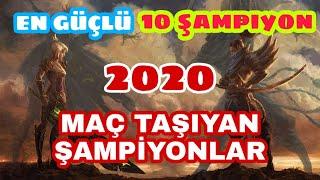 LOL EN GÜÇLÜ 10 ŞAMPİYON (2020 SEZON10)