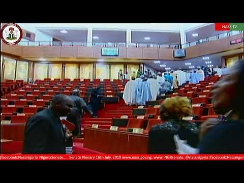 Senate Plenary 16th July, 2019