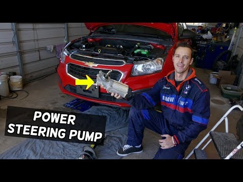 CHEVROLET CRUZE POWER STEERING PUMP REPLACEMENT REMOVAL. ELECTRIC POWER STEERING PUMP