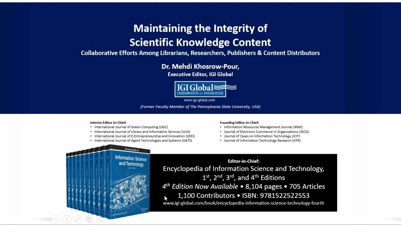 Maintaining the Integrity of Scientific Knowledge Content