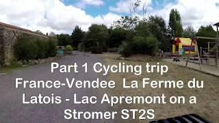 Part1 Cycling Trip France-Vendee La Ferme du Latois - Lac Apremont on a Stromer ST2S