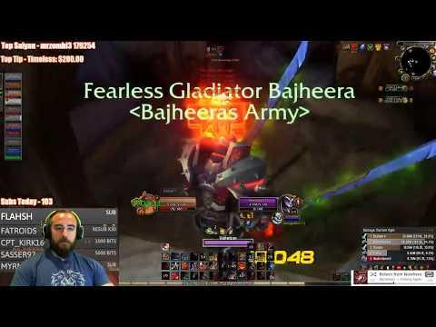 """Bajheera - """"IS FURY WARRIOR GOOD IN 7.2.5?!"""" - WoW Legion Rank 1 Warrior PvP"""