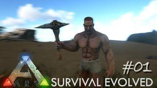 Ark Survival Evolved Ep 01 - Epic Adventure Begins (Server Let's Play)