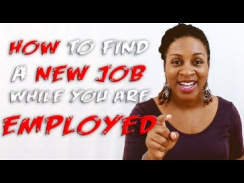 How To Find A Job While You Have A Job