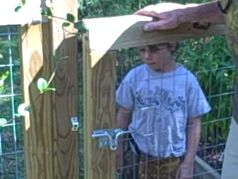How To Construct A Garden Gate.AVI   YouTube