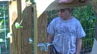 How to construct a garden gate.AVI