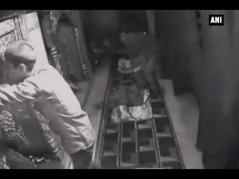 Watch: Thieves break into temple, steal antiques