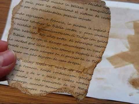 Scrapbooking en espa ol t cnica de envejecido youtube - Como hacer un libro antiguo ...