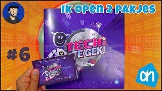 Albert Heijn spaar plaatjes #6 - Tech is te gek 2 pakjes openen