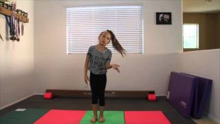 Back Handspring Step Out Tutorial | Hunter in the Gym