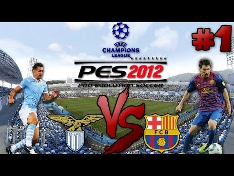 Lazio Vs Barcelona - UEFA #1   PES 2012 - Първи Мач !