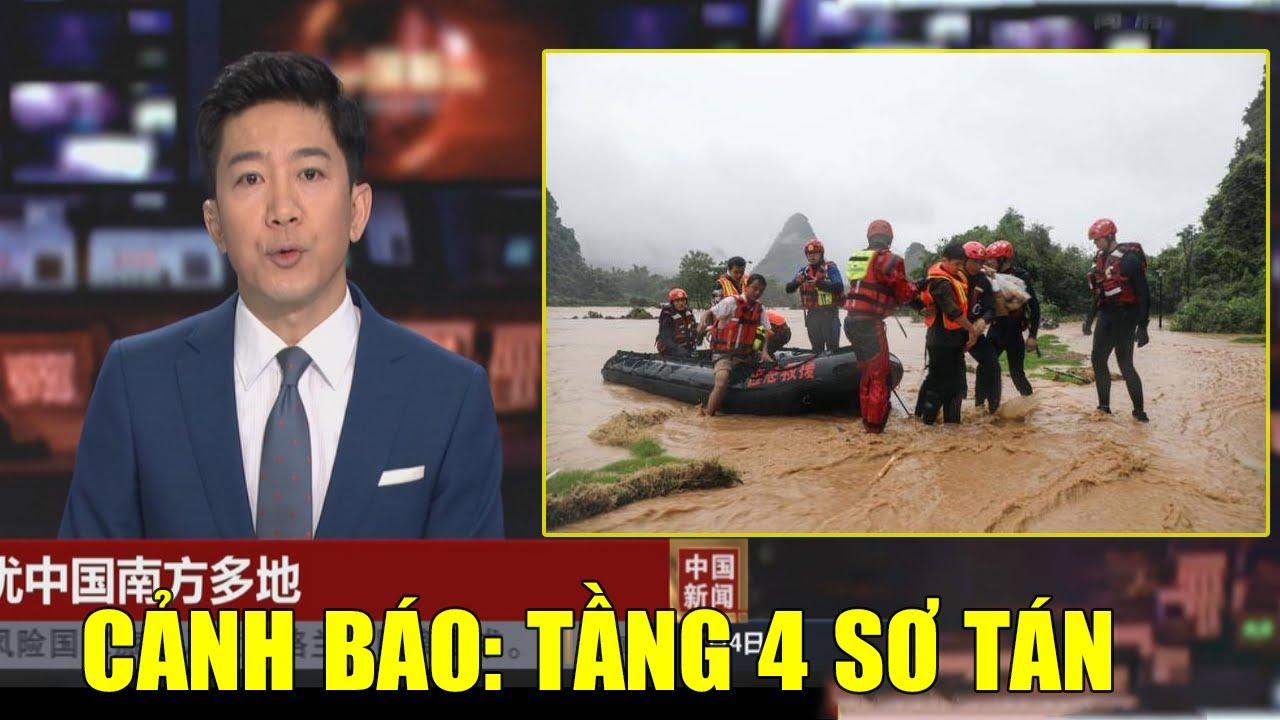 4/7: Lũ Lụt TQ: Trùng Khánh quân đội di tản dân sống ở chung cư tầng 4