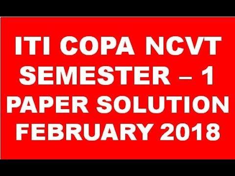iti copa ncvt semester 1 paper solution february exam 2018 youtube