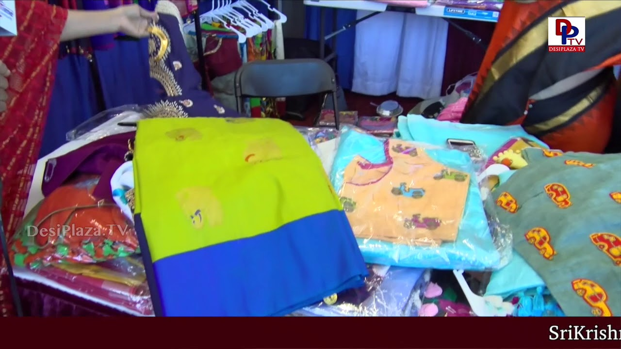 Excellent & Colourful Sarees seen at Vendor Booths at American Telugu Convention, Dallas,  TX | DPTV