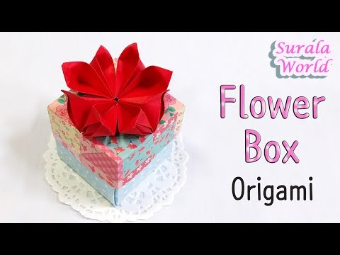 How To Make Paper Flower Gift Box - Origami Flower Boxes Tutorials ... | 360x480