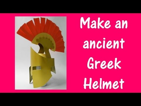 Arts and Crafts: How to make an ancient Greek Helmet. - YouTube