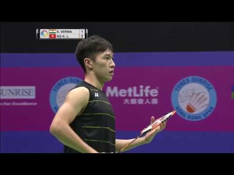 Yonex Sunrise Hong Kong Open 2016   Badminton F M3-MS   Sameer Verma vs Ng Ka Long Angus