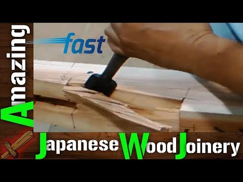 Amazing Japanese Woodworking Techniques, Fastest Hand Craft Cutting Skills