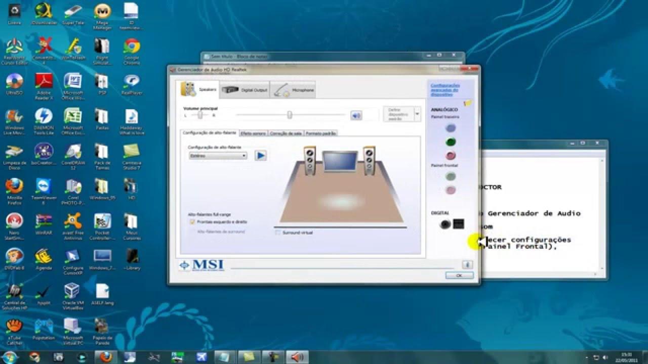 Configurar Fone de ouvido Windows 7 - YouTube