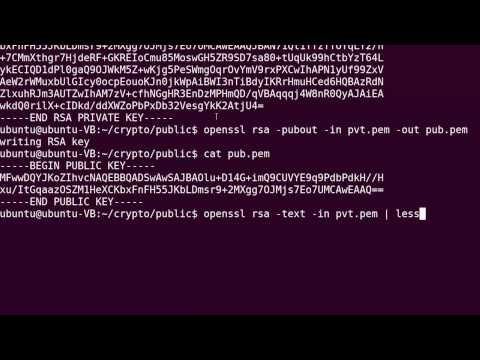 Public Key Cryptography - RSA using OpenSSL