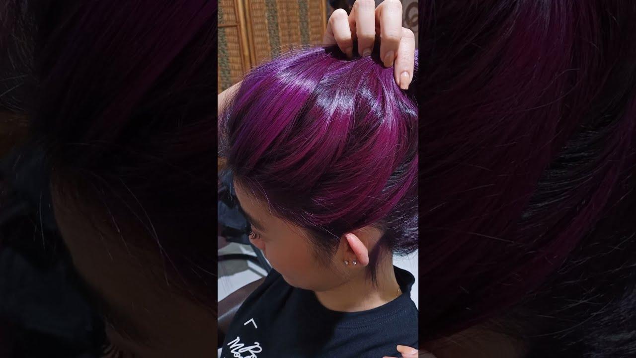 haircolour light violet