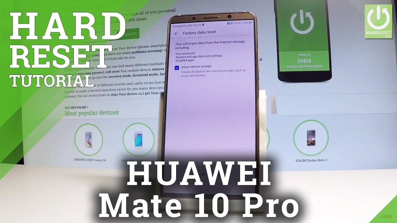 Hard Reset HUAWEI Mate 10 Pro - HardReset info