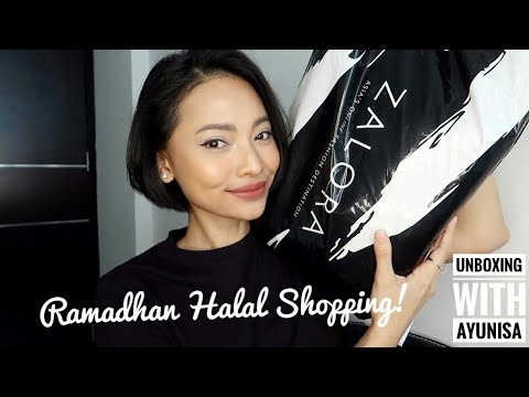 Halal Shopping - Belanja Mukena Hari Raya 150rban + Try On | Zalora Haul