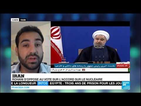 Milad Jokar, conférence de presse Hassan Rouhani Iran deal, France 24