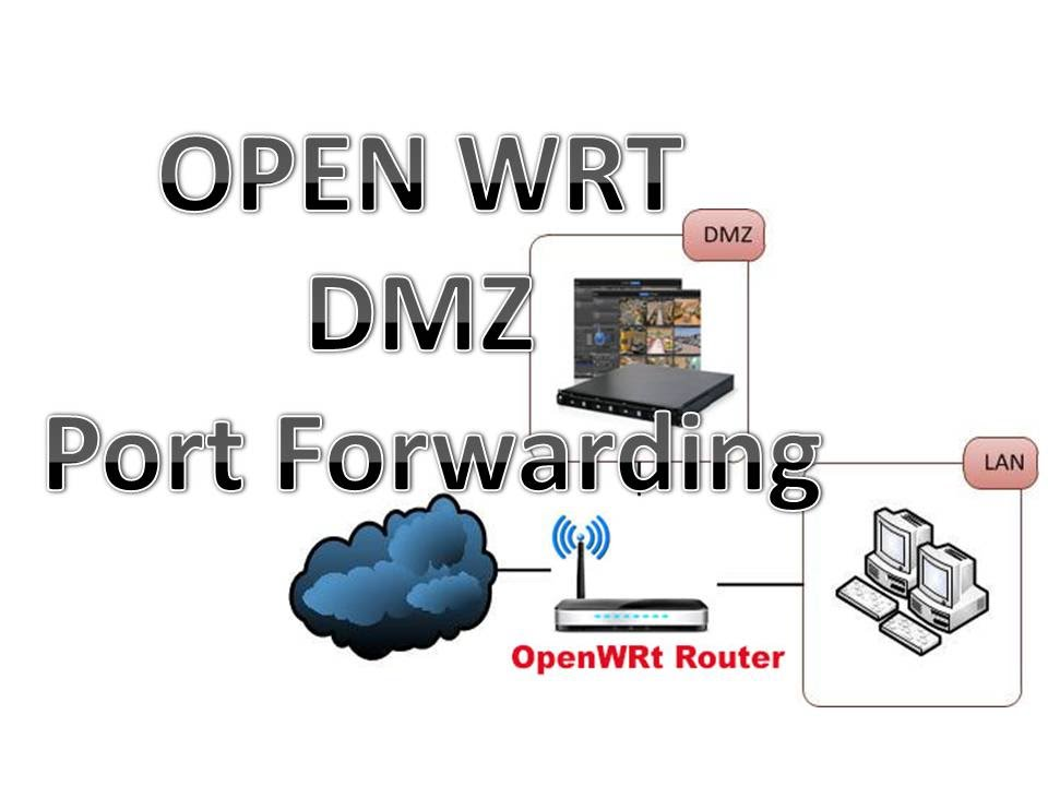 OpenWrt DMZ configuration with port Forwarding