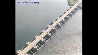 Deltawerken, Deltaworks, Aerial Footage
