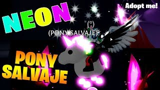 I GET NEON'S SALVAGE PONY 😱😱 IN ADOPT ME ROBLOX!