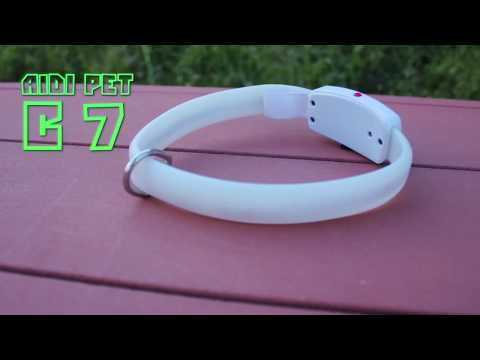 Rechargeable AIDI-C7 Reflective Dog Collar | Best LED Light Up Smart Dog Collar