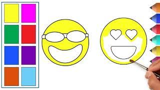 Coloring Emoji | Funny drawings for children
