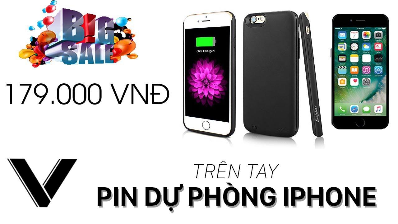 TRÊN TAY bộ phụ kiện ốp lưng kim pin dự phòng cho iPhone chỉ 179K