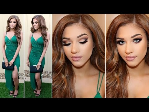 Wedding Guest Makeup, Hair & Outfit - YouTube