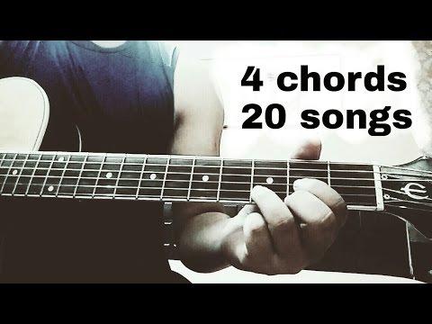 Play 20 Hindi/Bollywood songs on guitar using just 4 chords | D...Bm...G...A