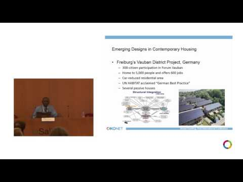 "OIKONET First International Conference ""Global Dwelling"", Barcelona-Isaiah Oluremi Durosaiye"