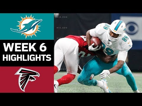 Dolphins vs. Falcons | NFL Week 6 Game Highlights