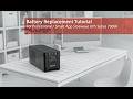 CyberPower Battery Replacement Tutorial for Professional/Smart App Sinewave Series 750VA (Tower)