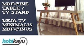 Buat Sendiri Meja TV Minimalis