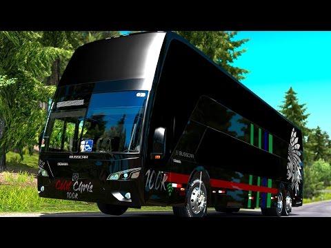 Autobús BUSSCAR | Curvas y bosque de Francia | Skin Especial
