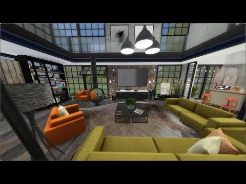 Industrial Loft - The Sims 4 Speed Build