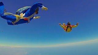 Inconsciente en paracaídas a 2800 metros de altura