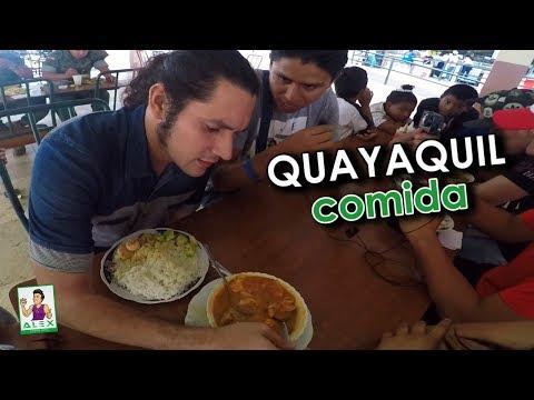 PROBANDO COMIDA típica (Guayaquil) con Felipe Crespo y Wallas da Silva / ANB