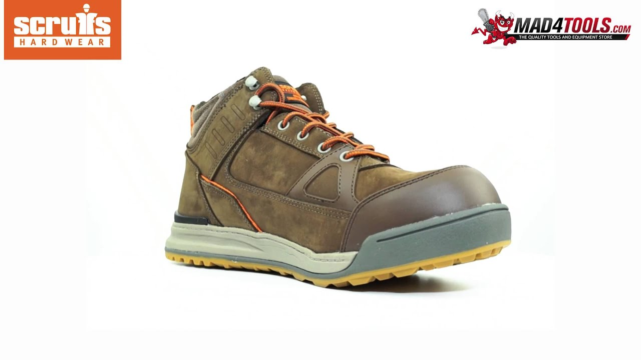 Scruffs SWITCHBACK 2 Safety Boot S3 Rated Lightweight Hiker Brown (Sizes  7-12)