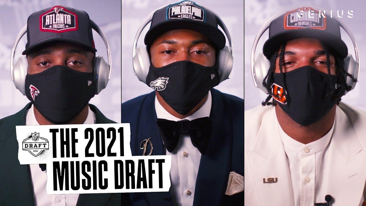 NFL 1st Round Picks Devonta Smith, Ja'Marr Chase, Kyle Pitts & More Take On The 2021 Music Draft
